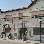 Fassadensanierung nach Anfahrschaden
